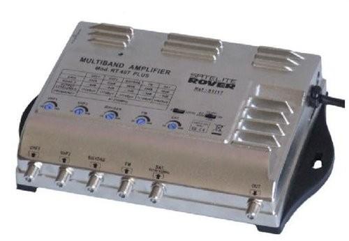 Amplificador línea/bombeo (ICT), 2 Entradas / 2 salidas,, 32/40db, 114/116 dBuV