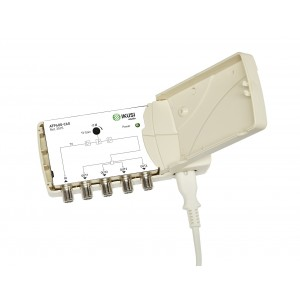 Amplificador de Interior 5G, VHF-UHF 22dB, 103dBuV. 4 salidas