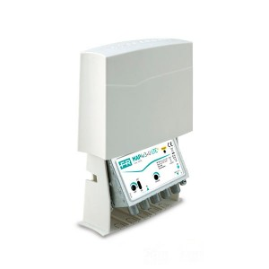 Amplificador de mástil 5G. 1 Entrada. UHF (C21/48), 42dB, Ajustable 15dB, 116dBnV