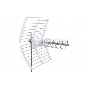 Antena UHF Helicoidal 5G. 17dB. C48. D/A 32dB. Color blanco