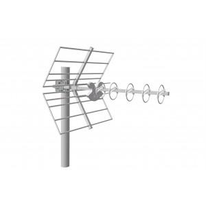 Antena UHF Yagi LTE 5G. 14dB. C48. D/A 38dB. Color blanco