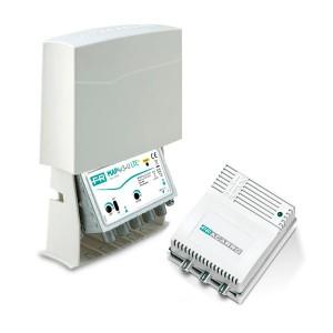 Kit Amplificador de mástil 5G. 1 Entrada. UHF (C21/48), 42dB, Ajustable 15dB, 116dBnV