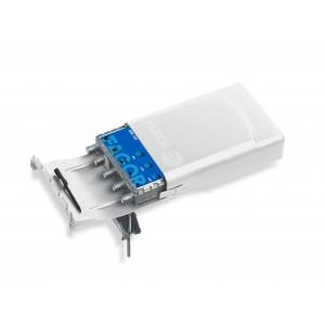 Kit de Amplificador mástil 5G AML 510 (1 entrada UHF, 38dB, 114dBµV) + Fuente FA 252. Paso DC conmutable