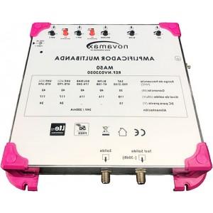 Central Multibanda 5E (UHF1-UHF2-BIII/DAB-BI/FM-SAT) y 2 salidas, 42dB, 117dBnV.